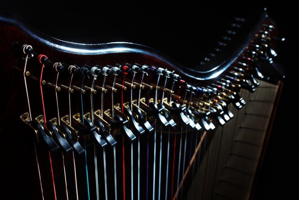 transport d'une harpe