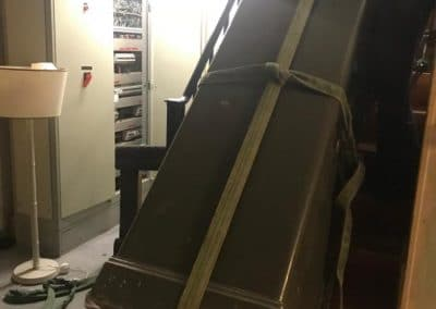 deplacement armoire forte escalier