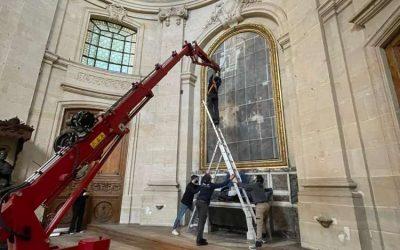 Cathédrale du Château de Versailles – Démontage peinture monumentale
